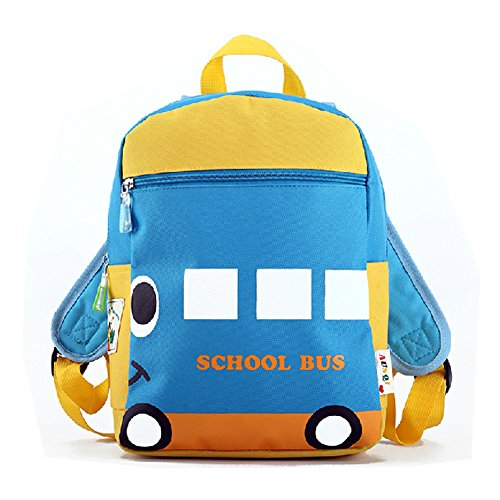 Deer Mum Children'S Backpack Lovely School Bus Design Schoolbag Toddler Kid Daypack (M) front-895161