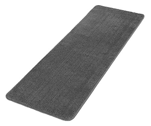 Ottomanson Softy Collection Color Solid Machine Washable Non Slip Kitchen Bathroom Mat Rug