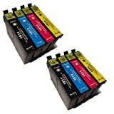2 X T1811 - T1814 Series Compatible Multipack - Full Set of 4 Cartridges for Epson Expression Home XP-202 Printer (Replaces :T1811/Black T1812/Cyan T1813/Magenta T1814/Yellow) T1816 ***By TriINKS***