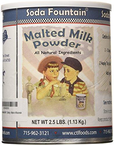 Soda Fountain Malted Milk Powder 2.5 Lb. (Single) - Malt Powder for Ice Cream and Baking - Made in Wisconsin (Soda Fountain Malt compare prices)