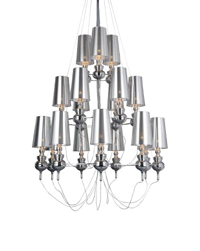 Control Brand The Tiffany Suspension Lamp, Silver