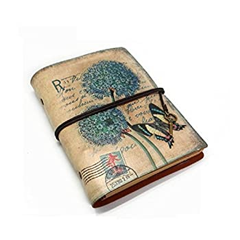 JOLIN Vintage Vellum Paper Journal Refillable Notebook-Creative Gift for Carrying Memory,Dandelion