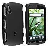 Xperia Play Case Cover | Black Rubberized Snap-On Hard Skin Case Cover for Sony Xperia Play PSP thumbnail