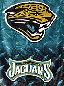 Northwest Jacksonville Jaguars Raschel Blanket 60 x 80 by Northwest