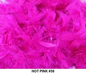 Solid Boas 6 Foot Long 50 Gram in a Variety of Shades Great for Parties, Crafts, and Fun! (Hot Pink #38)