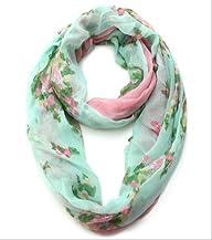 Floral Print Lightweight Spring Infinity Loop Scarf
