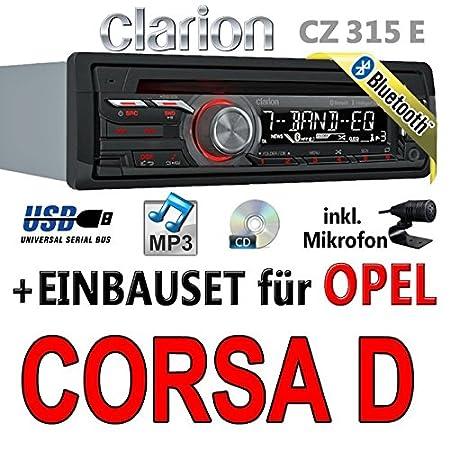 Opel corsa d (noir)-clarion cZ315E-autoradio bluetooth avec