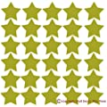 Wall Decor Plus More WDPM272 Star Vinyl Stickers for Home Decor 2-Inch Peel-N-Stick, Metallic Gold, 30-Piece