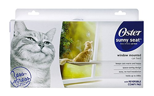 oster-sunny-seat-window-mounted-cat-bed-50-lbs