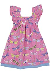 Hatley Little Girls' Flutter Sleeve Dress Dragonflies
