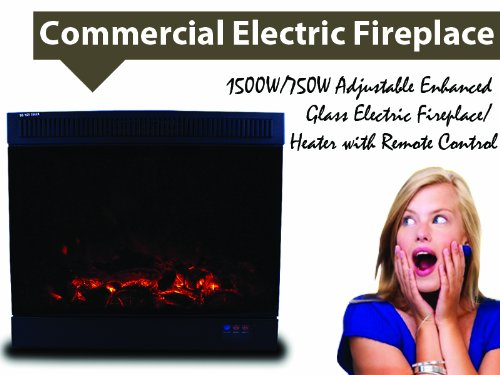 New Insert Style 1500W/750W Electric Fireplace Space Heater 1500 Watts w/Remote image B00GYGJ5W8.jpg