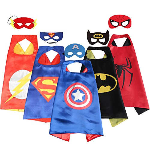 Spess Superhero Costumes Toddlers 5 Pcs Capes and Masks costumes for kids