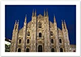 WallsnArt, Architecture Modern Framed Art Work Painting With out glass,Italy, Milan Province, Milan. Milan Cathedral, Evening.