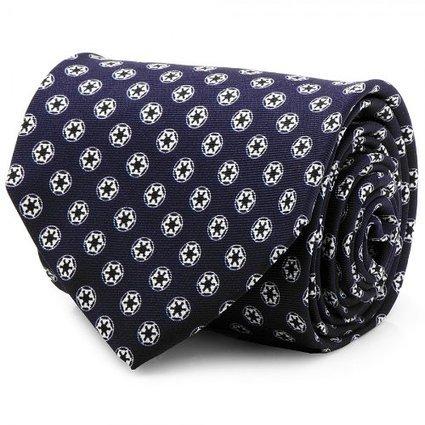 100% Silk Navy Blue Star Wars Imperial Empire Neck Tie Necktie Neckwear PA-SW-IMPN-TR (Star Wars Tie)