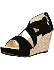 KANCHAN Women's Velvet Wedges