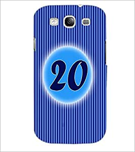 PrintDhaba Numerology Number 20 D-2578 Back Case Cover for SAMSUNG GALAXY S3 (Multi-Coloured)