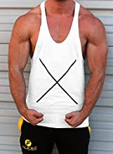 X Muscle Tank Top Singlet Stringer Chaleco Culturismo yback espalda cruzada tback Gray