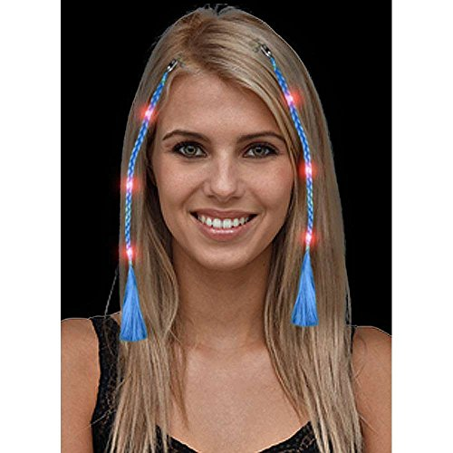 Led Blue Braided Clip-In Hair Extension