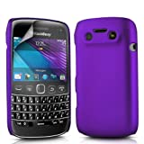 PURPLE HYBRID HARD BACK CASE COVER FOR BLACKBERRY 9790 BOLD & SCREEN PROTECTOR BY N4U ONLINE