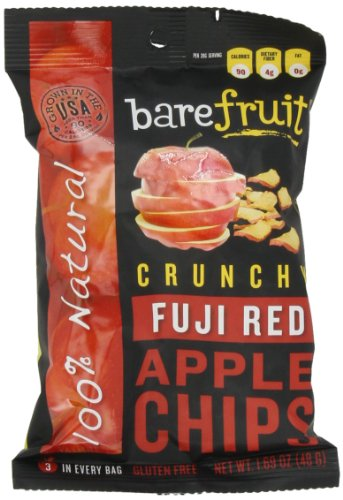 Bare Fruit Crunchy Apple Chips Fuji Red 1 69 Ounce Bags Pack of 10