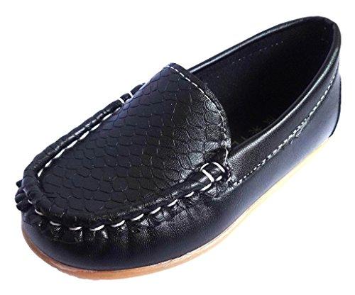 Femizee Boys Girls Casual Dress Leather Moccasin Loafer Shoes(Toddler/Little Kid/Big Kid)