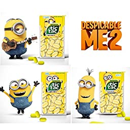 Minion Tic Tac\'s Limited Edition Banana Flavor 16g Pack of 3 Promotion