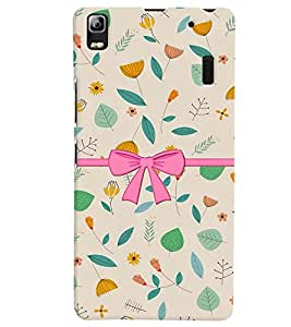 PrintVisa Stylish Cool Girl Bow 3D Hard Polycarbonate Designer Back Case Cover for Lenovo A7000