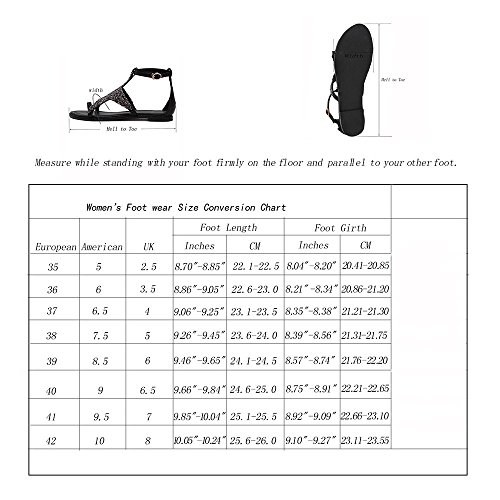 Spritech(TM) Women Girl Summer Closed Bling Point Toe PU Leather Ankle Strap High Heel Shoes 36 Black