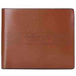 Harrms Mens Genuine Leather thin Bifold Wallets Italian Cowhide