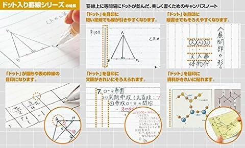 コクヨ キャンパスノート ドット入り罫線 A5 B罫 30枚 ノ-103BTN