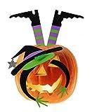 Metal Halloween Witch Pumpkin Dress Up Kit