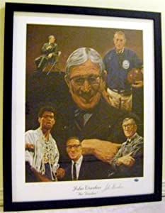 John Wooden Autographed Hand Signed lithograph (UCLA Hall of Fame Coach) framed and... by Hall of Fame Memorabilia