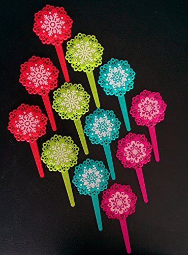 Snowflake Cupcake Picks