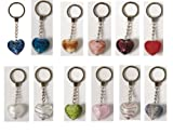 Glass Heart Keyring (Handmade)