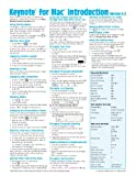 Keynote for Mac Quick Reference Guide: Introduction (Cheat Sheet of Instructions, Tips & Shortcuts - Laminated Card)
