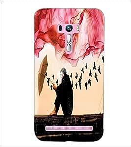 PrintDhaba Creative Image D-4027 Back Case Cover for ASUS ZENFONE SELFIE ZD551KL (Multi-Coloured)
