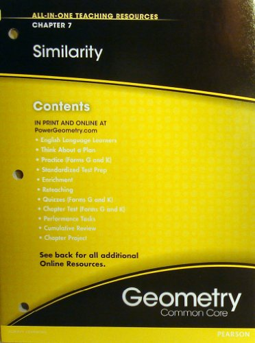 Similarity Chapter 7 (All-In-One Teaching Resources Geometry Common Core)