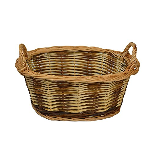 RURALITY Eco-friendly Wicker Storage Basket Planter with Handles - 1