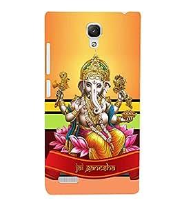 Vinayaka Chaturthi Cute Fashion 3D Hard Polycarbonate Designer Back Case Cover for Xiaomi Redmi Note Prime