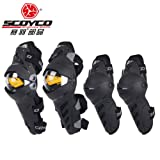 SCOYCO k17h17 Motocross Knee Pads Motorcycle Knee Protector And Elbow Protector Outdoor Sports Motorcycle Equipment (Color: Black, Tamaño: One Size)