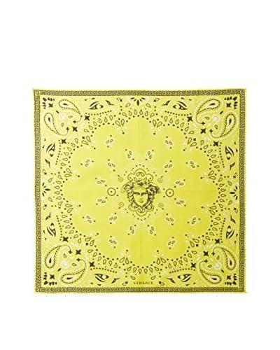 Versace Women's Bandana Print Scarf, Yellow