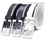 3色(フルールアンフェ)FleurUneffe ベルト メンズ シンプル ライン PU レザー サイズ調整可能 ランキングお取り寄せ