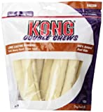 Kong Premium Treats Rawhide Retriever Roll Double Chews, Bacon, 8 Chews