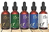 Gio Naturals Organic Oil Gift Set, Castor, Jojoba, Tamanu, and Argan Oil, For Hair, Face, Skin, and Nails, Blend Bottle Included