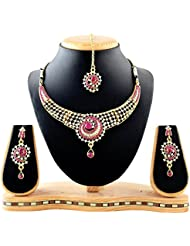 REEVA BEAUTIFUL BRIDAL NECKLACE SET WITH AISTRIAN DIAMOND WITH MAANG TIKKA