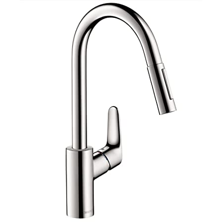 Hansgrohe 31815001 Focus HighArc Kitchen Faucet with Pull-Down, 2-Spray, Chrome