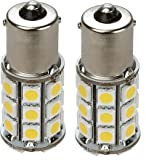 2 x Gold Stars 11560040-02 Replacement LED Bulb 1156/1141 Base Tower 280 Lums 12v or 24v Natural White