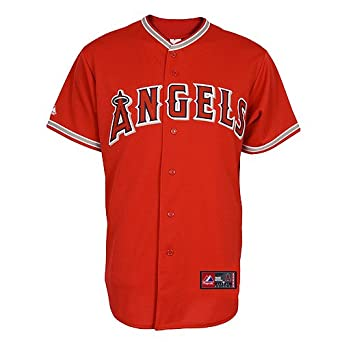 Mike Trout Jersey: Los Angeles Angels of Anaheim Adult Alternate Red #27 by Majestic