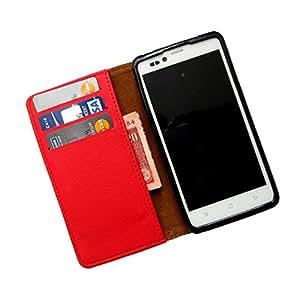 i-KitPit PU Leather Wallet Flip Case for LG G2 (D802) (RED)