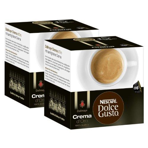 Nescafé Dolce Gusto Dallmayr Crema d´Oro, Pack of 2, 2 x 16 Capsules